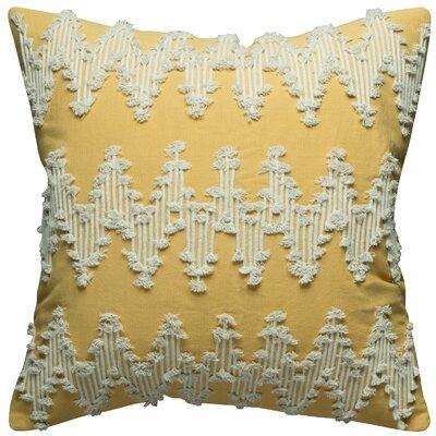 Cerisier Cotton Pillow Cover Color: Gold