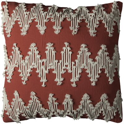 Cerisier Cotton Pillow Cover Color: Red