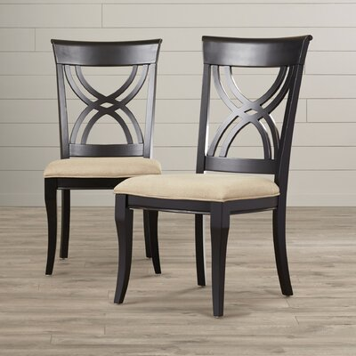 Amadou Side Chair (Set of 2) Finish: Black