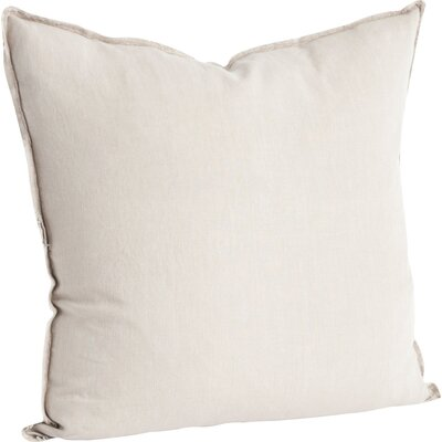 Hardage Linen Throw Pillow Color: Natural