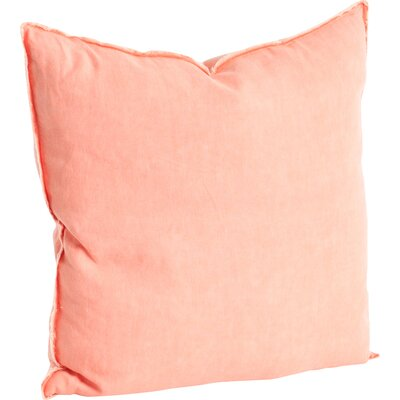 Hardage Linen Throw Pillow Color: Coral