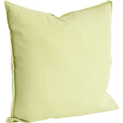 Levasseur Linen Throw Pillow Color: Chartreuse