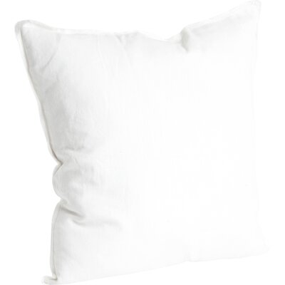Hardage Linen Throw Pillow Color: Ivory