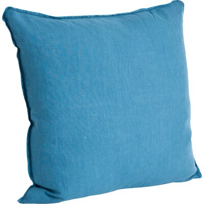 Hardage Linen Throw Pillow Color: Carolina Blue