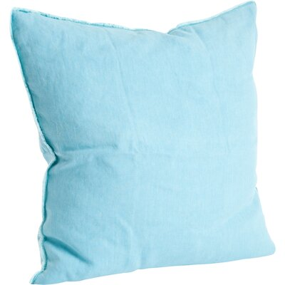 Hardage Linen Throw Pillow Color: Turquoise