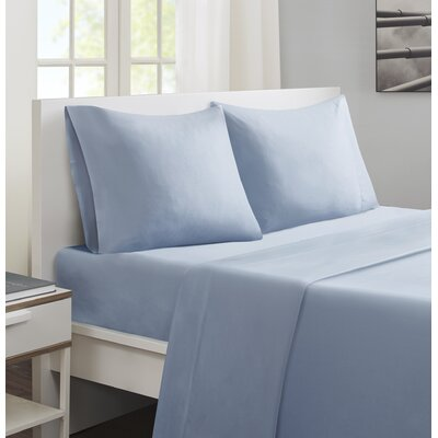 Felicien Cotton and Coolmax Sheet Set Color: Blue, Size: Queen