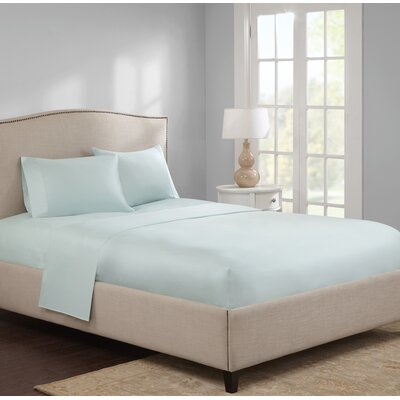 Elya 300 Thread Count 100% Cotton Sheet Set Size: Full, Color: Seafoam