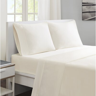 Felicien Cotton and Coolmax Sheet Set Size: King, Color: Ivory