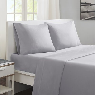 Cotton and Coolmax Sheet Set Size: California King, Color: Grey