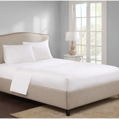 Elya 300 Thread Count 100% Cotton Sheet Set Size: Full, Color: White