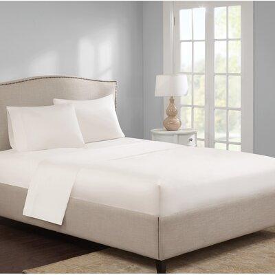 Elya 300 Thread Count 100% Cotton Sheet Set Color: Ivory, Size: California King