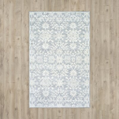 Belmont Hand-Tufted Gray Area Rug Rug Size: Rectangle 5 x 8
