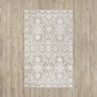 Giverny Hand-Tufted Beige Area Rug Rug Size: Rectangle 5 x 8