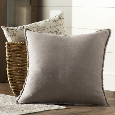 Levasseur Linen Throw Pillow Color: Taupe