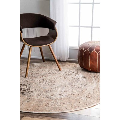 Heliotrope Beige Area Rug Rug Size: Rectangle 52 x 8
