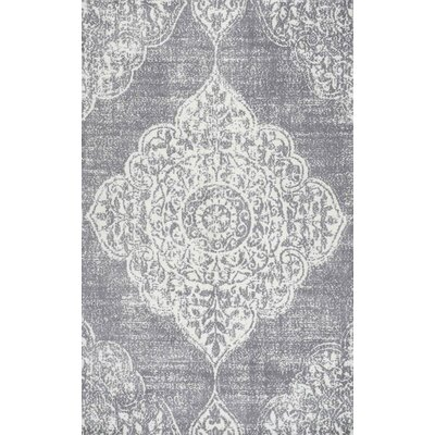 Glenan Hand-Tufted Gray Area Rug Rug Size: 86 x 116