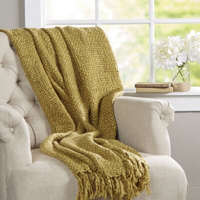 Roopville Throw Blanket Color: Avocado