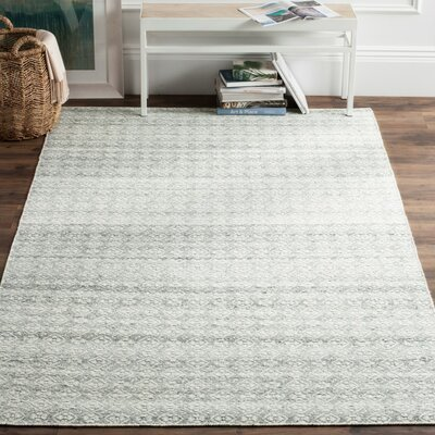 Anis Kilim Hand-Woven Wool Ivory/Silver Area Rug Rug Size: Rectangle 4 x 6