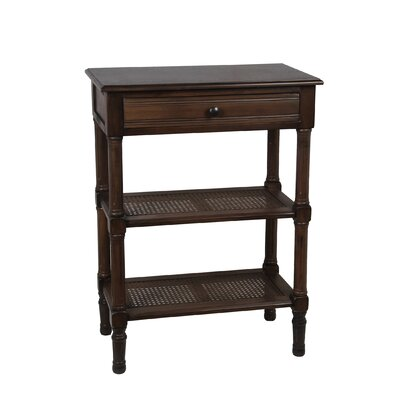 Denis 1 Drawer End Table Finish: Aged Amber