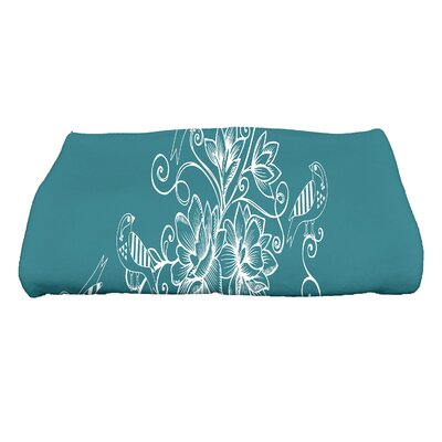 Grovetown Morning Birds Floral Bath Towel Color: Teal