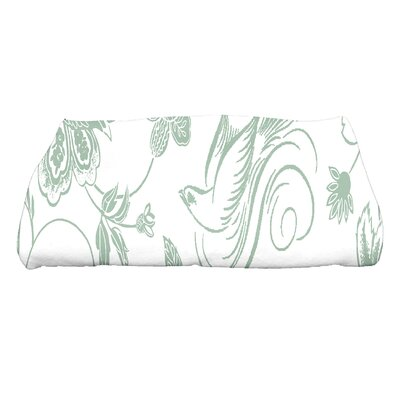Cecilia Traditional Bird Floral Bath Towel Color: Green