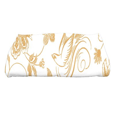 Grovetown Traditional Bird Floral Bath Towel Color: Gold