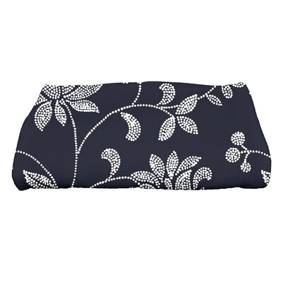 Grovetown Traditional Floral Bath Towel Color: Navy Blue
