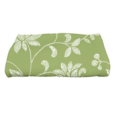 Grovetown Traditional Floral Bath Towel Color: Green