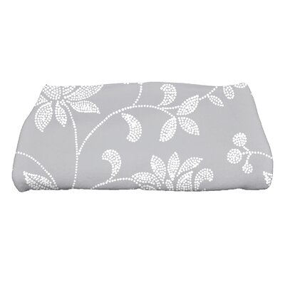 Cecilia Traditional Floral Bath Towel Color: Gray