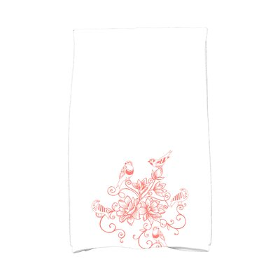 Grovetown Five Little Birds Hand Towel Color: Coral