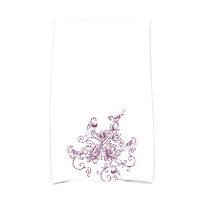 Grovetown Five Little Birds Hand Towel Color: Purple