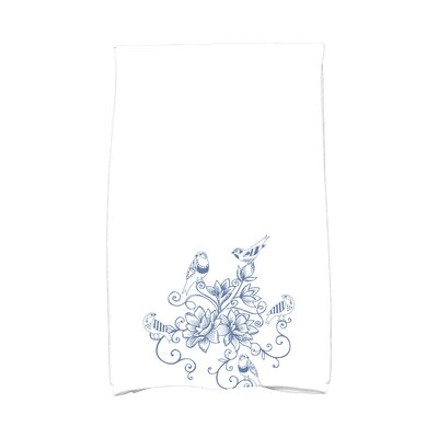 Cecilia Five Little Birds Hand Towel Color: Blue