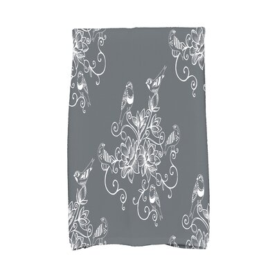 Cecilia Morning Birds Hand Towel Color: Gray