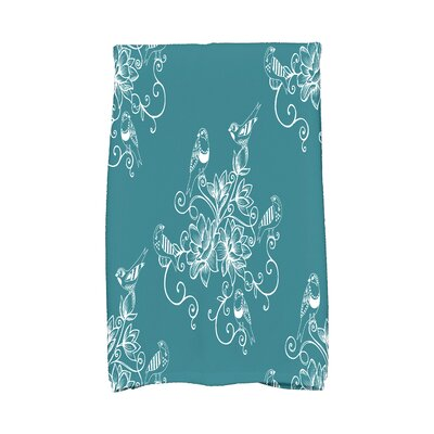 Cecilia Morning Birds Hand Towel Color: Teal