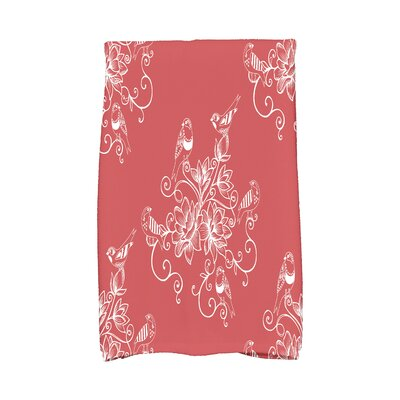 Grovetown Morning Birds Hand Towel Color: Coral