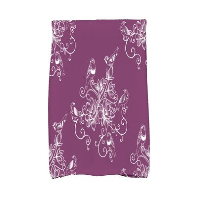 Cecilia Morning Birds Hand Towel Color: Purple