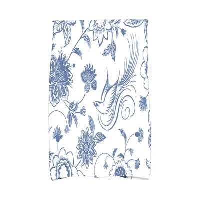 Cecilia Traditional Bird Hand Towel Color: Blue