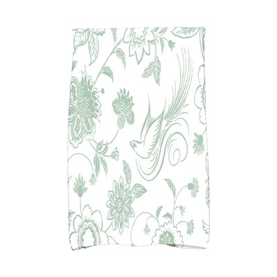 Cecilia Traditional Bird Hand Towel Color: Green