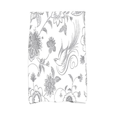 Cecilia Traditional Bird Hand Towel Color: Gray
