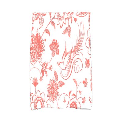 Cecilia Traditional Bird Hand Towel Color: Coral