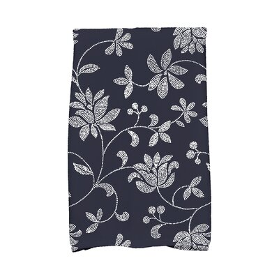 Cecilia Traditional Hand Towel Color: Navy Blue