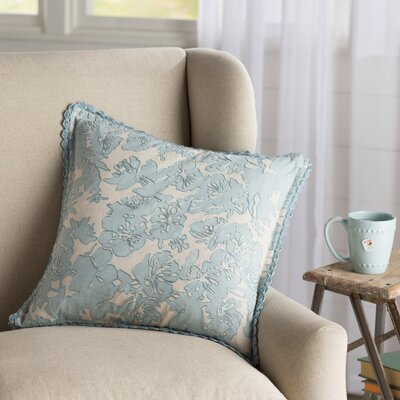 Olga Throw Pillow Size: 22 H x 22 W x 4 D, Color: Blue