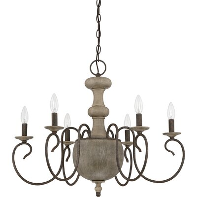 Salette 6-Light Candle-Style Chandelier