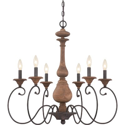 Lois 6-Light Candle-Style Chandelier