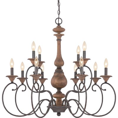 Turcot 12-Light Candle-Style Chandelier