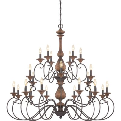 Lois 24-Light Candle-Style Chandelier