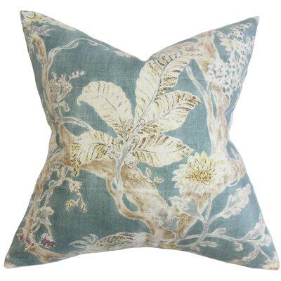 Ilana Floral Bedding Sham Size: Euro, Color: Blue