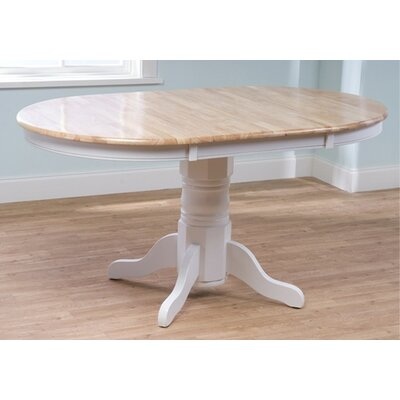 Gennevilliers Extendable Dining Table Finish: White / Natural