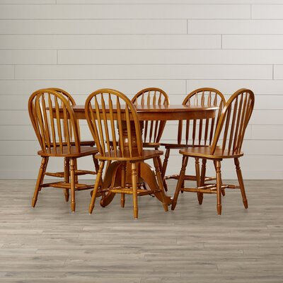 Leonora 7 Piece Dining Set Finish: Oak
