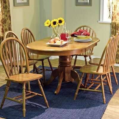 Gennevilliers 7 Piece Dining Set Finish: Oak